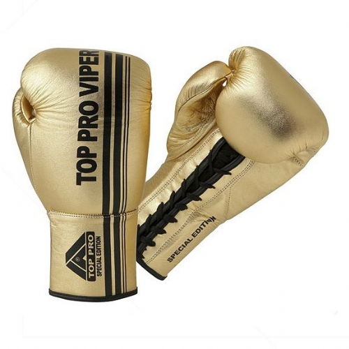 Top Pro Viper Pro Laced Boxing Gloves - Gold